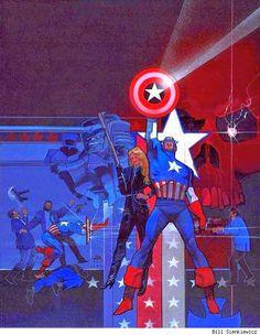 Captain America  by Bill Sienkiewicz