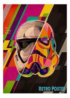 Vintage Star Wars Movie Retro Poster
