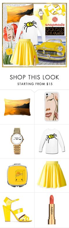 """SNAPMADE 21."" by carola-corana ❤ liked on Polyvore featuring Oris, cutekawaii, Philipp Plein, Laurence Dacade, Sisley, watch, iphonecase, Tshirt, pillowcase and compactmirror"