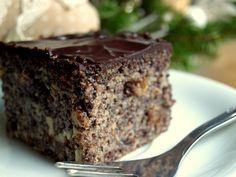 Niebieskie migdały: Makowiec Japoński z jabłkami Superfood, Sweet Recipes, Deserts, Gluten Free, Sweets, Baking, Poppy, Cakes, Christmas