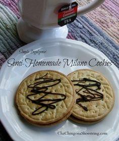 Semi-Homemade Milano Cookies | The Dollar Store Diva