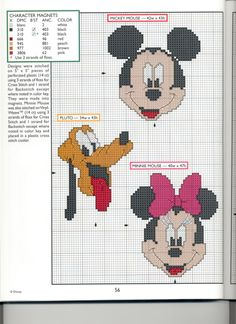 Mickey Collection~pg 56 Character Magnets 1