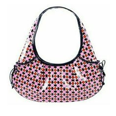 """NWOT Vera Bradley mini hobo bag Bold pink geometric pattern. Inside is a pink floral cotton with one zip pouch. Outside is patent type material it has two side pockets. I'm not sure if this bag is intended to be reversible it looks like it is but I had a difficult time turning in inside out. Does not have a zip or snap closure.  13.75"""" x 6.5"""" x 1"""". NO TRADES Vera Bradley Bags Hobos"""