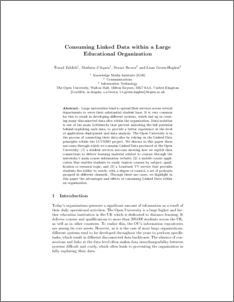 Consuming Linked Data within a Large Educational Organization - Open Research Online