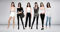"immortalsims: ""Kendall Jenner Look Book 1. Inspiration [x] • Dress - @simpliciaty • Shoes - @madlensims 2. Inspiration [x] • Top - @mayhemfashionsims4 • Jeans - @chisimi • Bag - @starlord-sims • Shoes..."