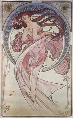 From Mucha's muse series- this one is in pride of place in my treehouse studio. (If you are interested in an analysis of this piece, click through to the original link for a great article)