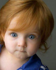 First is the red hair.but those blue eyes and red hair. Precious Children, Beautiful Children, Beautiful Babies, Cute Kids, Cute Babies, Chubby Babies, Baby Faces, Child Face, Baby Kind