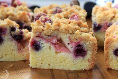 Blueberry Rhubarb Crumb Bars
