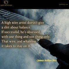 What you give attention to must grow. #Blog #Resilience #LIVEBIG https://jamesray.com/forget-balance-choose-mastery/