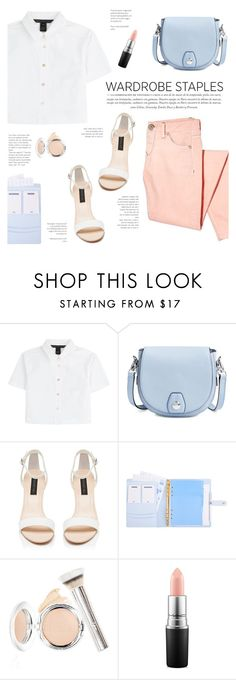 """""""White Shirt"""" by yexyka ❤ liked on Polyvore featuring Marc by Marc Jacobs, rag & bone, Forever New, It Cosmetics, MAC Cosmetics and WardrobeStaples"""