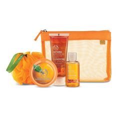 The Body Shop Satsuma Gift Bag (£10) ❤ liked on Polyvore featuring beauty products, beauty accessories, bags & cases and the body shop