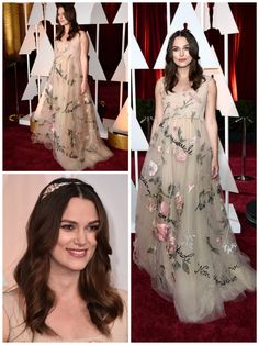Keira Knightley What wore Nominees for best supporting actress on Oscars 2015? See more here: http://everydaytalks.com/oscars-red-carpet-nominees-for-best-supporting-actress/
