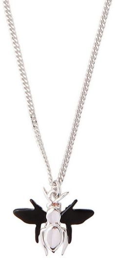 Dior Homme Silver Silver Bee Pendant Necklace