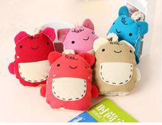 Korean Handmade Cute Pocket Bear Key Pouch/ Case/ Holder