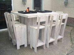 Bar tafel steigerhout