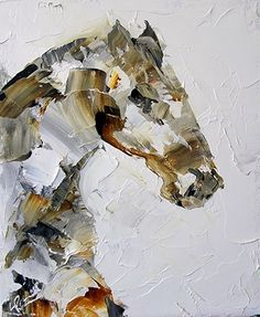 Summer Horse 47 by Texas Artist Laurie Pace, 100 Horse Paintings in 100 days of summer for $100 each, painting by artist Laurie Justus Pace