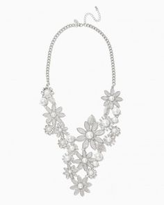 Floral Stardust Statement Necklace