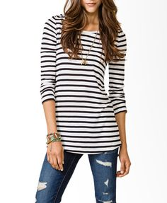Striped Long Sleeve Top | FOREVER21 - 2031557233 FINALLY FOUND IT