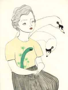 Coco Escribano - Loving her work.