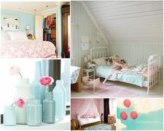love blue and pink for a girl's bedroom