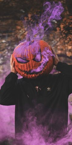 Oh!balkabağım yanıyor #pumpkin #Fire #purple