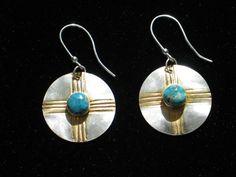 Beautiful Sterling & Turquoise Earrings  24K by JNBJewelryStudio, $38.00