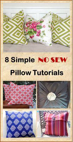 8 Simple NO SEW Pillow Tutorials