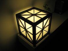 Cubic japanese Shoji lamp