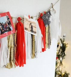 DIY a festive tissue paper tassel garland with this easy tutorial.