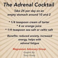 Fatigue remedies for men and women Adrenal fatigue cocktail #Dietsforthyroid