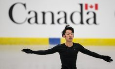 Daisuke Takahashi of Japan practices at Budweiser Gardens in preparation for the 2013 World Figure Skating Championships in London, Ontario, Canada, March 11, 2013. Skaters from around the globe are preparing for the competition which starts on Wednesday.