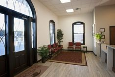 Entry and waiting at ForSight Eye Center designed by Barbara Wright Design