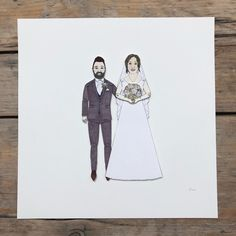 I love making #wedding #portraits and this little beauty is heading to Milton Keynes.  Etsy.com/shop/chunkydumpling  #bespoke #familyportrait #uniquegifts #paperanniversary #anniversary #paperdolls #illustration #birthdays #handmade #custommade #paperart Sharpie Pens, Custom Wedding Gifts, Paper Anniversary, Milton Keynes, Pen And Watercolor, Portrait Illustration, Wedding Portraits, Family Portraits, Paper Dolls