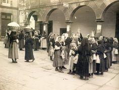 Mujeres en el mercado de Santiago de Compostela 1934