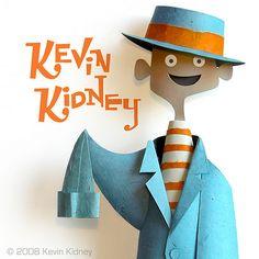Kevin Kidney Paper Sculpture by Miehana, via Flickr