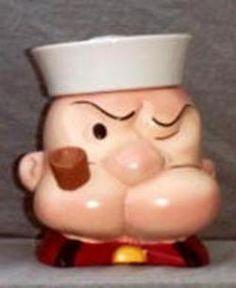 Vintage Popeye Cookie Jar