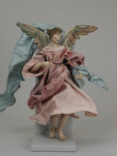 Angel, Attributed to Giuseppe Sanmartino (Italian, Polychromed terracotta head; wooden limbs and wings; body of wire wrapped in tow; various fabrics, Italian, Naples Tall Christmas Trees, Nyc Christmas, Italian Christmas, Antique Christmas, A Christmas Story, Merry Christmas, Giuseppe Sanmartino, Jean Antoine Watteau, Roman Clothes
