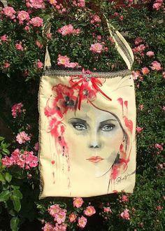 creativ art - hobby: Tutorial video - Portret cu vopsele textile de la Pentart pe o viitoare traistuta