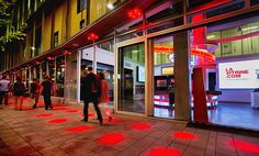 Discover Montreal's Quartier des spectacles entertainment district and learn about the concentration and diversity of its cultural venues in this 1 space. Artistic Installation, Light Art, Pathways, Montreal, Canada, Vacation, Photos, Saint Laurent, Lighting