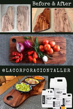 Woah, check out that wood grain! These intricate serving boards were created by IG @lacorporaciontaller and finished with Pure Tung Oil. What a great addition to any summer party! Pure Tung Oil is a great way to seal your piece and give it a durable water-resistant finish that will last for many years to come. Our Pure Tung Oil is plant-based, food-contact, and creates a matte finish without taking away from the natural grain of the wood. Natural Honey, Natural Wood, Pure Tung Oil, Refinish Wood Floors, Real Milk Paint, Wood Finishing, Paint Thinner, Mean Green, Wood Oil
