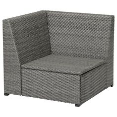 SOLLERÖN Corner section, outdoor, dark gray. Customize with SOLLERÖN modular sections. Use the corner section on its own or add one-seat sections and armrests for a modular corner sofa.