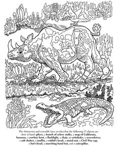 """Amazing Animal Wildlife Hidden Picture Mania Coloring Page (with Answers). Can you find the """"hidden objects""""? Animal Coloring Pages, Colouring Pages, Coloring Sheets, Adult Coloring, Coloring Books, Hidden Picture Games, Hidden Pictures Printables, Find The Hidden Objects, Picture Puzzles"""