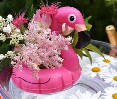 Pool party fun is a favorite summertime celebration! See all the easy decorations.and no pool required to get in on the fun! Flamingo Float, Flamingo Party, Flamingo Pool, Pool Party Decorations, Easy Decorations, Pool Candles, Party Time, Party Fun, Party Ideas