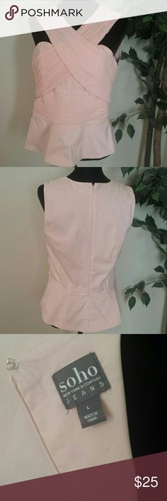 Corset Style Criss Cross Top Corset Style Criss Cross Top **NWOT** Never worn 60% Cotton 35% Polyester 5% Spandex. Trim 100% Polyester. True to size Large. New York & Company Tops Blouses