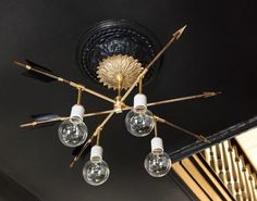 DesignSponge DIY Arrow Light
