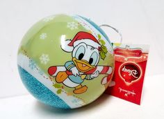 Hallmark Disney Baby Donald Duck & Mickey Mouse Blue Christmas Tree Ornament