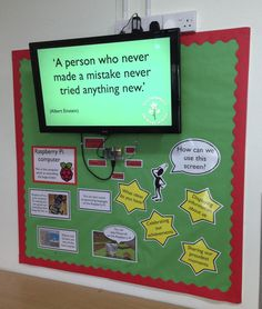 Primary school Head Teacher installs a raspberry pi to create an interactive display used by teachers and students to upload images of their work. Note: Prone to abuse by secondary school pupils?