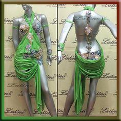 LATIN RHYTHM SALSA BALLROOM DANCE DRESS COMPETITION - SIZE S, M, L (VL40C1) #LatinoDancewears