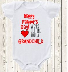 Father's day pregnancy announcement idea for grandpa ONESIE ®brand bodysuit or shirt pregnancy reveal idea for grandpa new baby annoucnement by The1stYearBaby on Etsy