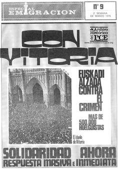 Portada del suplemento de emigración de Mundo Obrero. Marzo, 1976